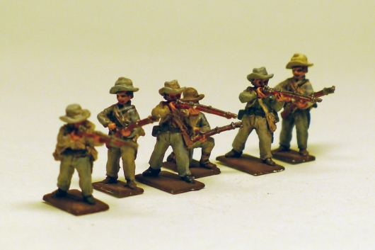 The figures are AB via Eureka Miniatures. They're great figures. My painting doesn't do them justice.